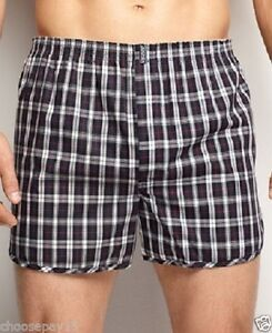 12 Pairs Men Woven Boxer Shorts Loose Fit Cotton Designer Underwear ... f4e3c068250
