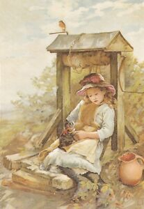Pussy-at-the-Well-from-Cats-Postcard-unused-VGC