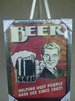 Canvas Print Beer, A man cave print , old style, new 33cm x 43cm