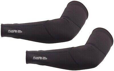 Dare2B Core Stretch Cycling Arm Warmers Black Soft Warm Winter Commuting Riding