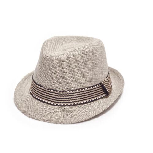Kids Children Girls Boys Fedora Trilby Unisex Panama Hat Dance Jazz Cap