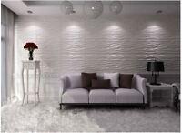 32 Sq. Ft. Bamboo 3d Hardboard Wainscot Wall Panel Decor Tiles Embossed Panels