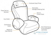 Human Touch Ijoy-2580 Massage Chair Black Recliner - Full Factory Warranty