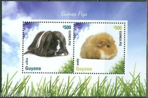 Guyana-2014-cobayes-souvenir-sheet-II-neuf-sans-charniere
