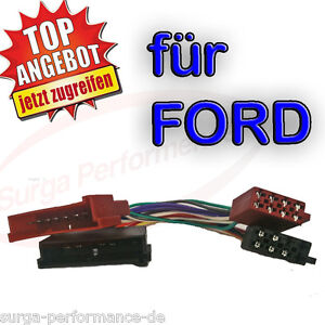 Radio-Adapter-Kabel-ISO-DIN-fuer-FORD-Mondeo