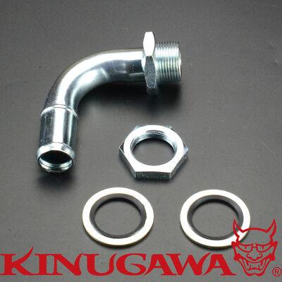 Return Pipe tap to Oil Pan DIY w// 10AN Fitting 45 Degree Turbo Oil Drain