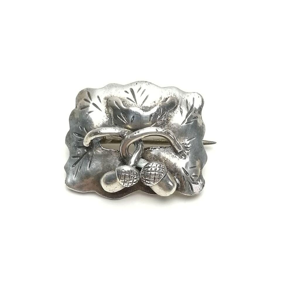 Broche, sølv, Gustav Adolf sællstrøm sølv broche