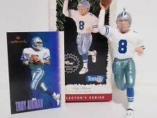 Troy Aikman hallmark ornament #2 football ledgend dallas cowboy 1996 QXI5021 MIB