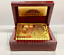 thumbnail 6 - 24K Gold Plated Playing Cards Poker Game Deck Wooden Gift Box 99.9% Certificate