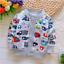 Newborn Infant bébé garçons filles Cartoon Manteau Tops en coton à manches longues Vêtements