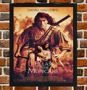 Details about Framed The Last of the Mohicans Film Poster A4 / A3 Size In  Black / White Frame
