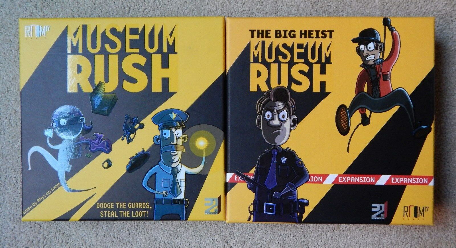 MUSEUM RUSH, BIG HEIST & EGYPTIAN EXHIBIT EXPANSIONSBRAND NEW (MONOPOLY)L@@K