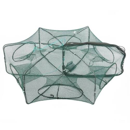 Crayfish Net Pocket Fishes Cages String Bag Hexagon Crab Trap Automatic Trap LP