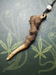 Privet ROOT Wood Wand Pendant - for Hades & Necromancy - Witchcraft, Pagan, RARE