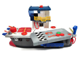 Imaginext 2009 Fisher Price Large Sky Racers Aircraft Carrier Boat Ship Playset