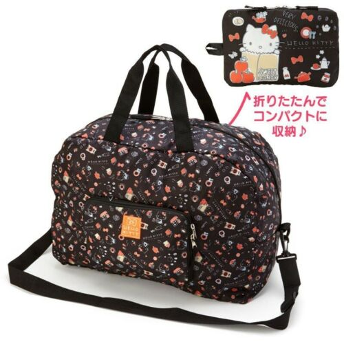 Hello Kitty Folding Travelling bag Gym bag Black Apple Japan Sanrio