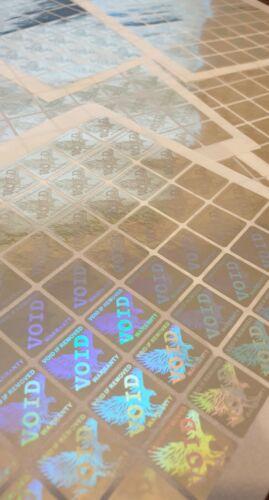 Hologram Square Warranty Void Tamper Proof Labels Security Seal Stickers 18mm UK