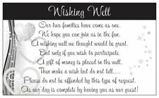 10 WISHING WELL CARDS wedding invitations purple and black butterflies household