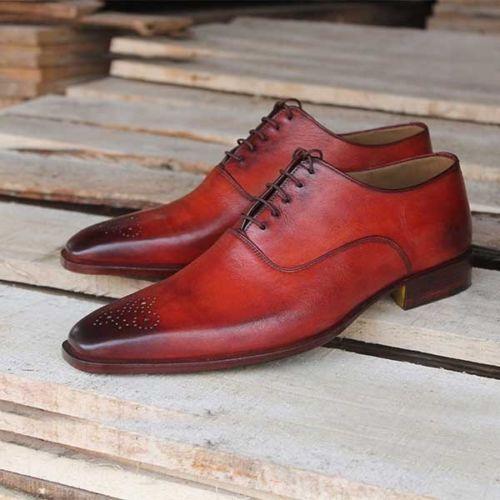 scarpe uomo mano mano stivali in Gli a a formali pelle fatti da fatti vera wz77RZxPq