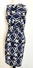 Michael Kors Blue And White Side Drape Dress. NWT Retail $130 Price $66 Size XS