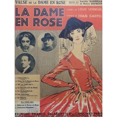 100% Wahr Caryll Ivan Valse Die Dame Im Rosen Chant Piano 1916 Partitur Sheet Music Scor Einfach Zu Schmieren