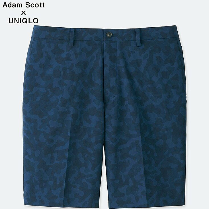 ADAM SCOTT x UNIQLO 'DRY Stretch Kando' Navy bluee Camo Men's Active Shorts M NWT