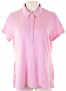 CREW-CLOTHING-Womens-Polo-Shirt-Size-16-Large-Pink-Cotton-GP05