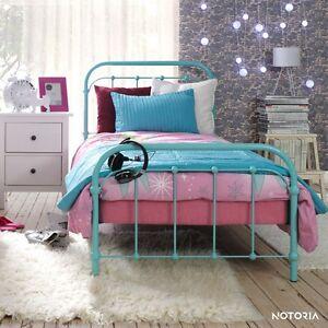amita eisenbett metallbett t rkis kinderbett jugendbett. Black Bedroom Furniture Sets. Home Design Ideas
