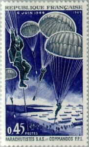 EBS-France-1969-25th-Anniversary-Liberation-Paratroopers-amp-Commandos1603-MNH
