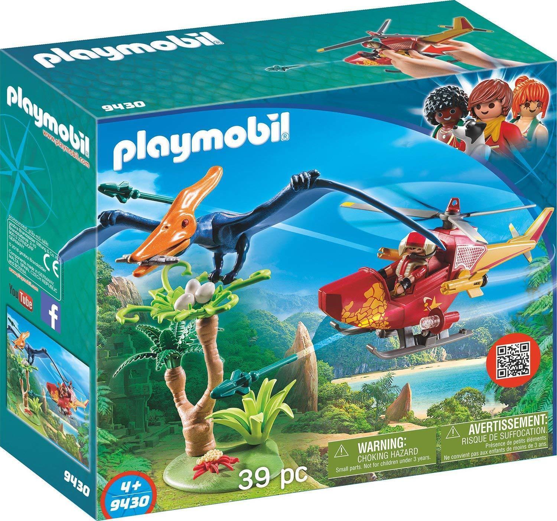 Playmobil Dinosaures 9430. Hélicoptère avec ptéroseure. Plus de 4 ans