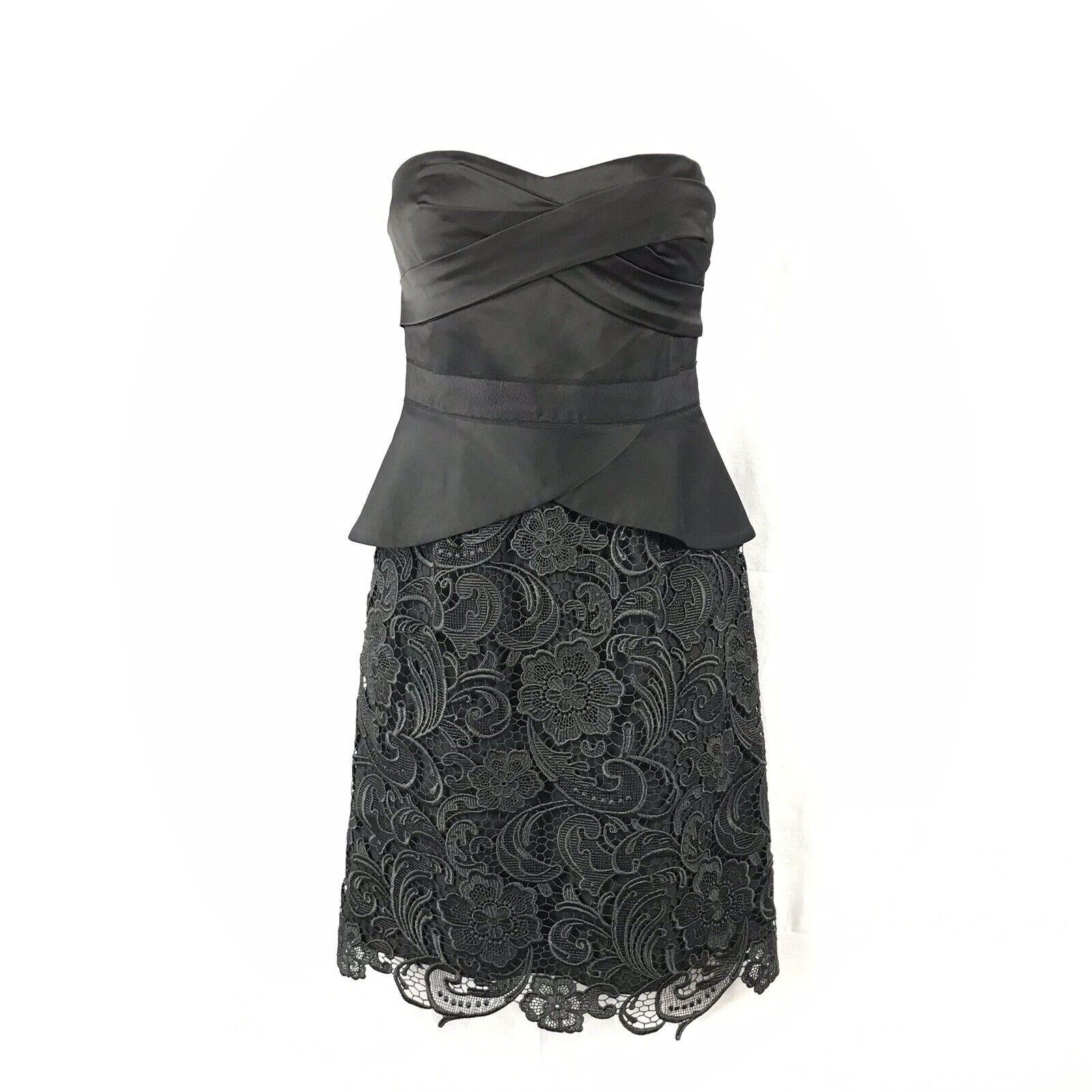 BCBG MAX AZRIA schwarz Woven Dress Größe 6