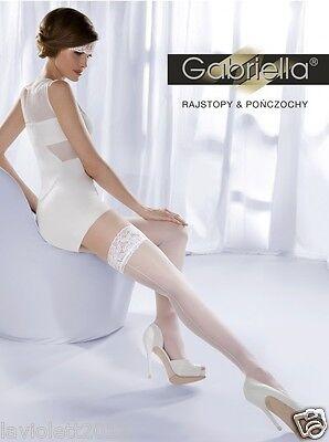 Exklusive Halterlose Strümpfe Gabriella Wedding Collection Princessa  mit Naht