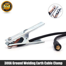 Earth Clamp Cable Welding Ground Grip Lead 300a Arc Mig Tig 10 25 Dinse 15m