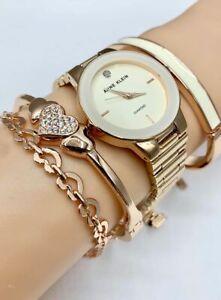 ORIGINAL-ANNE-KLEIN-Watch-Set-AK-3382IVST-Rose-Gold-Tone-30mm