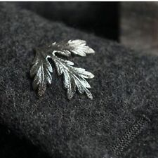 Silver Brooch Pin Maple Leaf Vintage Lapel Corsage Wedding Accessory Gift