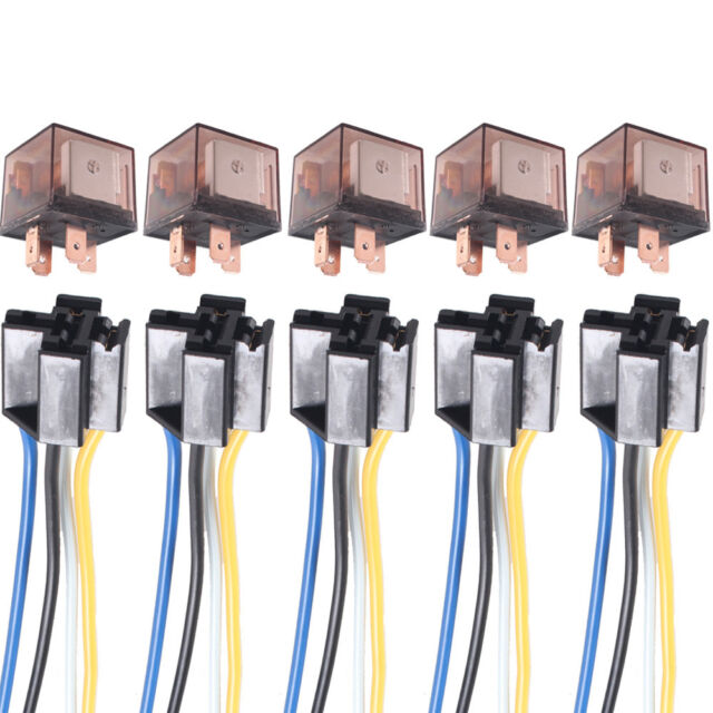5 X Car Truck Auto 12v 80a 80 Amp Spst Relay Relays 4 Pin
