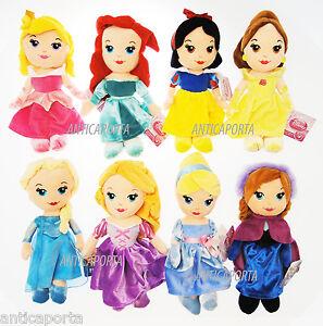 Princesses-Originaux-Disney-Peluche-Ariel-Rapunzel-Elsa-Blancheneige-Belle-30-CM
