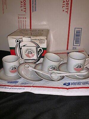 Caffé Molinari Espresso Cups and Saucers