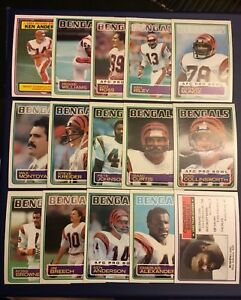 1983-Topps-CINCINNATI-BENGALS-Complete-Team-Set-15-COLLINSWORTH-ANDERSON-MUNOZ