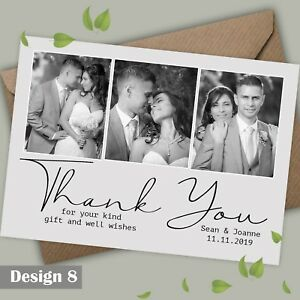 Flat Or Folded Photo Wedding Thank You