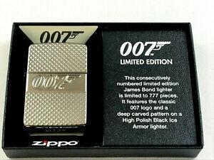 ZIPPO-Limited-007-James-Bond-Feuerzeug-lighter-limitiert-777-Stk-60004015