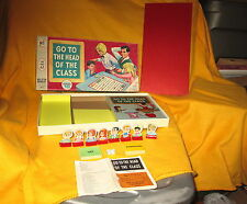 Vintage 1967 Milton Bradley GO TO THE HEAD OF THE CLASS Board Game