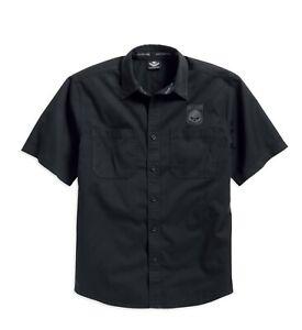Harley-Davidson-Men-039-s-Skull-Shield-Shirt-99009-16VM