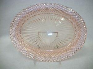 Vintage-Depression-Glass-Platter-Pink-Miss-America-Pattern