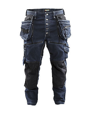Blaklader Cordura Denim Stretch Work Trousers. Kneepads & Holster Pockets - 1999