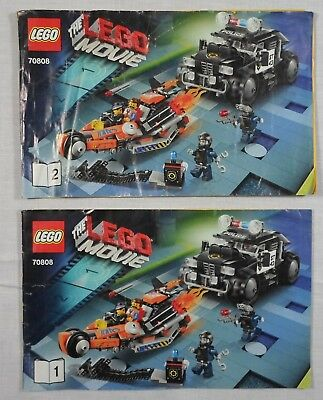 Lego 2014 The Movie 70808 Super Cycle Chase Instructions Manuals Booklet X 2 Ebay