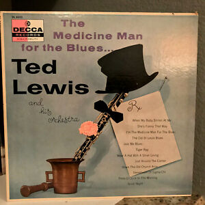 TED-LEWIS-amp-Orch-The-Medicine-Man-For-The-Blues-12-034-Vinyl-Record-LP-EX
