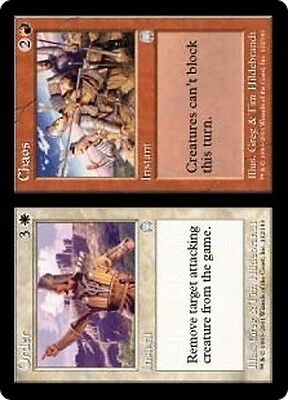 MTG Magic the Gathering Apocalypse FOIL Order //// Chaos NM