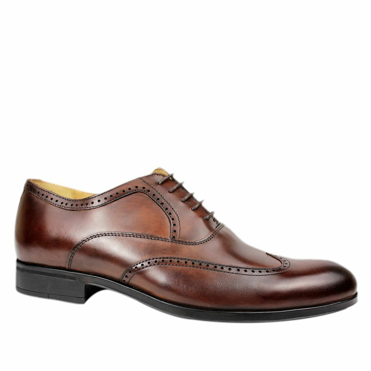 Steptronic Bugatti braun Soft Leather wing cap brogue Lace up Formal schuhe    | Heißer Verkauf