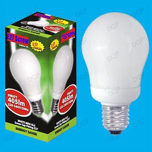 100x-9W-basse-consommation-Mini-GLS-CFL-3500K-Ampoule-Lumiere-Blanche-Es-E27